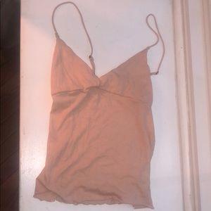 Charlotte Russe Light Pink Crop/Tank Top